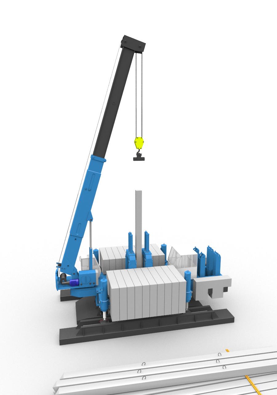 3D-модель установки BASIS для вдавливания свай усилием до 320 тонн